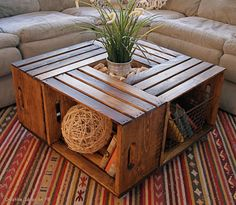 Coffee Table from Recycled Wine Crates