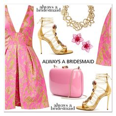 """Always a Bridesmaid"" by spenderellastyle ❤ liked on Polyvore featuring Notte by Marchesa, Casadei, Rocio, Oscar de la Renta, Dsquared2 and alwaysabridesmaid"