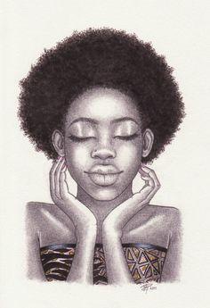 Black Love Art African Americans Africa New Ideas Black Love Art, Black Girl Art, My Black Is Beautiful, Black Girls Rock, Art Girl, Natural Hair Art, Pelo Natural, Natural Hair Styles, Natural Beauty