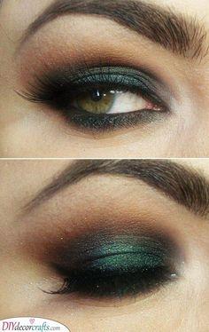 green eye make up Cute Makeup, Gorgeous Makeup, Cheap Makeup, Dark Green Eyes, Teal Eyes, Hazel Green, Brown Eyes, Hazel Eye Makeup, Hazel Eyes