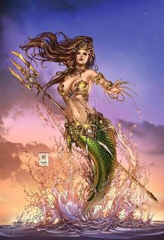 Zenescope Entertainment Grimm Fairy Tales presents: The Little Mermaid cover, variant C. Lineart: Colors: Zenescope GFT:TheLittleMermaid pencils: M. Mermaid Artwork, Mermaid Drawings, Mermaid Tattoos, Art Drawings, Fantasy Mermaids, Mermaids And Mermen, Fantasy Creatures, Mythical Creatures, Mermaid Fairy