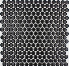 TST Penny Rounds Black Chess Bath Kitchen Deco Porcelain Tiles. / Glazed Finish / Mesh mounted, easy for cutting & cleaning. View more : http://www.tstmosaictiles.com/index.php?route=product/product&path=20_75&product_id=231