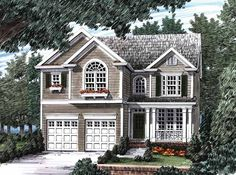 Eplans Cottage House Plan - Standout Classic Styling - 1985 Square Feet and 4 Bedrooms from Eplans - House Plan Code HWEPL09833