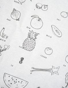 Trotski & Ash - fruit and vegetable seasonal calendar tea towel