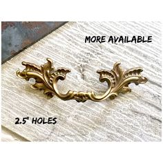 Drawer PULL Vintage FRENCH Furniture Handle Holes 2 1/2