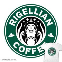 """Rigellian Coffee"" by Stationjack Inspired by Futurama and Starbucks Starbucks Shirt, Disney Starbucks, Custom Starbucks Cup, Starbucks Coffee, Silhouette Curio, Silhouette Clip Art, Coffee Logo, Cool Graphic Tees, Coffee Signs"