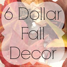 Easy Fall Decor For 6 Dollars - Great idea! Click through to see finished project.