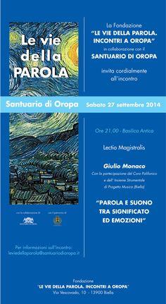 #Concerto con Giulio Monaco, il #coro Polifonico e l'ensamble strumentale di Progetto Musica, 27 settembre 2014, ore 21 #Oropa