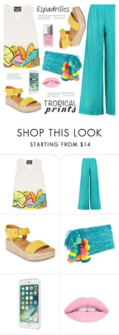 """""""Petrichor"""" by nadialesa ❤ liked on Polyvore featuring Boutique Moschino, Missoni, Kenneth Cole Reaction, Laut, Christian Dior, espadrilles and TropicalVacation"""