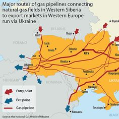 To Understand What's Really Happening in Ukraine, Follow the Gas Lines on This Map