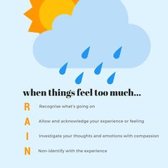 "remember ""rain"" - a handy psychotherapy exercise to help you manage strong emotions"