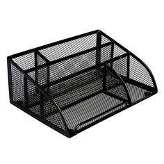 Office Depot® Brand Metro Mesh Angled Desk Organizer, Black
