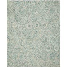 Safavieh Handmade Ikat Ivory/ Sea Blue Wool Rug (8'9 x 12') - Overstock Shopping - Great Deals on Safavieh 7x9 - 10x14 Rugs