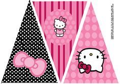 Hello Kitty Birthday Party Banner. This is one of 2 printable designs for a Hello Kitty Banner.