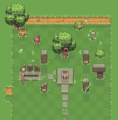 [OC][WIP] First mockup for a new roguelike/exploration game : PixelArt