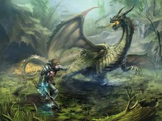 Gothic: Swamp Dragon by scerg on DeviantArt Fantasy World, Fantasy Art, Gothic Games, Dragon Artwork, Dragon Rider, Wings Of Fire, Best Graphics, Skyrim, Best Games