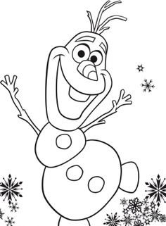 Olaf is a fictional character who appears in Walt Disney Animation Studios' animated film Frozen. Olaf is a snowman created by Elsa. Snowman Coloring Pages, Frozen Coloring Pages, Christmas Coloring Pages, Printable Coloring Pages, Disney Frozen Olaf, Coloring Pages For Kids, Coloring Books, Kids Coloring Sheets, Olaf Drawing