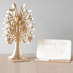Are you looking for a wishing tree to compliment your rustic wedding?This woodland wedding inspired wedding wishing tree would be perfect for your guests to sign a heart to show they were part of your special day. With 4cm wooden hearts perfect for your wishing tree tags, your guests can sign their name and place it onto your tree. This would also make a perfect wedding guest book alternative.100 Hearts , 38cm Tall / 4 Sided , Cut from 3mm birch , 2 Mini pencils and wooden sign included4...