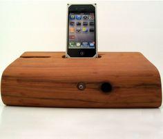 wood iphone speaker dock.