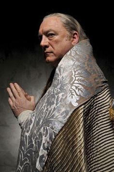 John Doman as the pope Rodrigo Borgia
