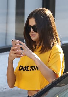 Selena Gomez News — April 9: [More] Selena leaving Shamrock Social...