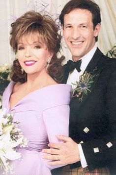 Joan Collins' wedding to Percy Gibson.