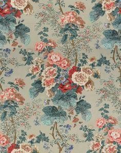 Hollyhock Hdb Green by Lee Jofa Coral Fabric, Green Fabric, Turquoise Home Decor, Lee Jofa, Wallpaper Size, Hollyhock, Drapery Fabric, Curtains, Green Print