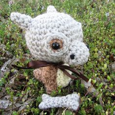 Fresh off my hooks: a Cubone with (separate) Bone Prop for an outgoing order.  Slots for custom/made-to-order crochet orders are currently CLOSED while I catch up on the backlog created when I broke my leg in December. I do have one Eevee amigurumi and one Wooper amigurumi listed in my Etsy shop (link in profile;corlista.etsy.com); both are ready for immediate shipment. I'm not sure when I will have time to make more ready-to-ship dudes so nab them if you're interested!  Rush Order Eevee…