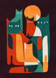 Cat Family by Picomodi - 700 x 980