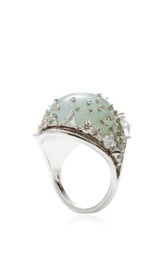 Fusion Rounded Aquamarine Ring by Fernando Jorge for Preorder on Moda Operandi