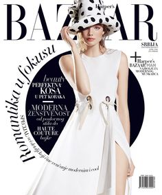 Kristine Froseth on Harper's Bazaar Serbia Magazine April 2016 Cover