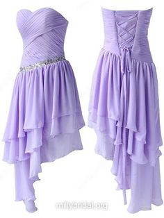 A-line Sweetheart Chiffon Asymmetrical Beading High Low Beautiful Prom Dresses