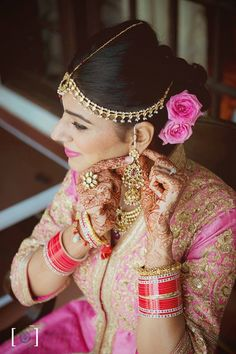 """Photo from album """"Wedding photography"""" posted by photographer Dhanika Choksi Photography Lehenga Wedding, Sikh Wedding, Indian Wedding Outfits, Wedding Venues, Wedding Dresses, Wedding Company, Lehenga Saree, Wedding Preparation, Wedding Jewelry"""