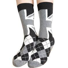 Unisex British UK Flag Plaid Design Vintage Retro Cotton Mid-Calf Length Sock - Google Search