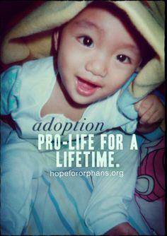 Adoption = pro-life for a lifetime.