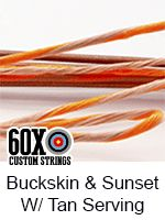 buckskin and sunset with tan serving custom bow string
