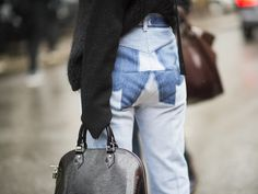 You're About to Have a Love Affair With This Denim Street Style Trend