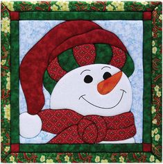 "Snowman Quilt Magic Kit-12""X12"""