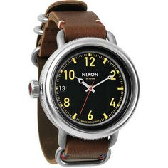 Looks like your granpa's watch: October Leather Watch (Men's) #NixonWatches&Gear at RockCreek.com