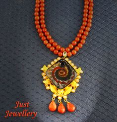 Gold Foil Necklace..!!  Price - 7200/-  Place your order by sending us an email to justjewellery08@gmail.com
