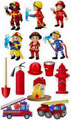 Fireman Party, Fireman Sam, Preschool Learning Activities, Activities For Kids, Art For Kids, Crafts For Kids, Community Helpers Preschool, Kindergarten, Community Workers