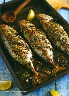 Balık+Limon+Acı Pul Biber+Kimyon+Taze Kişniş/Maydonoz
