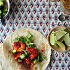 chipotle prawn taco & cucumber slaw