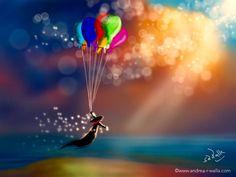 Einfach mal treiben im Wind ohne Ziel,  ohne Zwang, und das Leben zulassen.  Make Myday die Abenteuer der kleinen Fee als Kalender http://www.spielweltv3galerie.com/shop/make-myday/