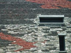 Recycled stone, roof tiles, bricks etc. in Shu's Ningbo Museum in China. Lyrical.