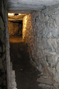 Knowth Megalithic Passage--The Great Mound was built over 5000 years ago--Boyne Valley, Ireland