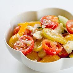 Cherry Tomato Cucumber Feta Salad Recipe - ZipList