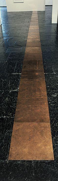 Twenty-Ninth Copper Cardinal by Carl Andre 1975  Art Experience NYC: www.artexperiencenyc.com