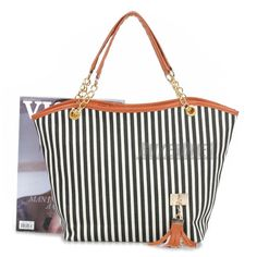 Women Striped Big CanvasBag Handbag Tote Shopping Sexy Uniques Bag Travel Bag
