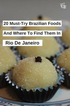 20 Must-Try Brazilian Food Rio de Janeiro | Visit Rio | Brazil  Which Brazilian foods do we love? Mandioca frita, paçoca, tapioca crepe, acarajé, misto quente, quindim, moqueca, beijinho de coco, feijoada, romeu e julieta, empada, biscoito globo, açai, joelho, coxinha, brigadeiro, canjica, pão de queijo, pastels.